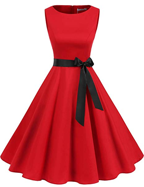 1950s Retro Cocktail Swing Party Dress