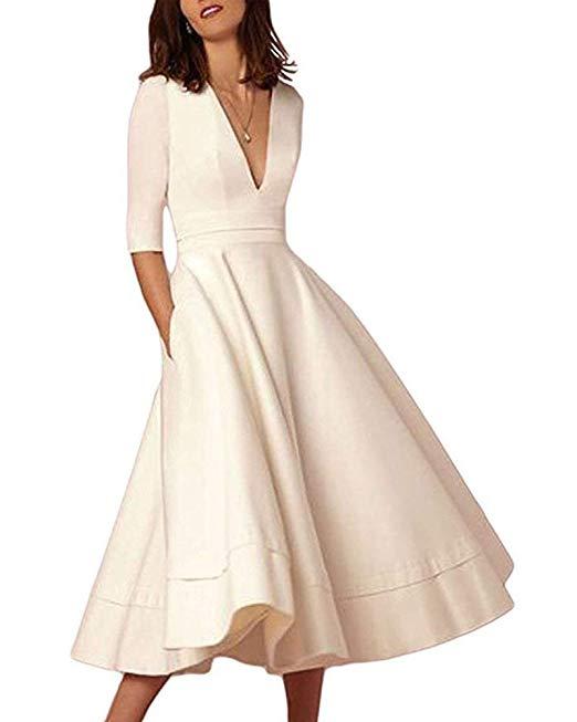 Flare Swing Midi Dress.