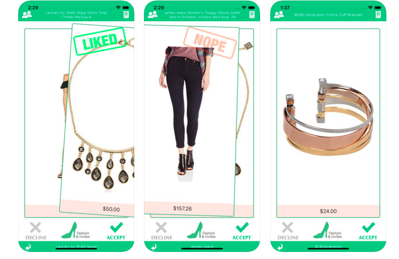 Shopping Invite - Covet Clothes creator app for iphone