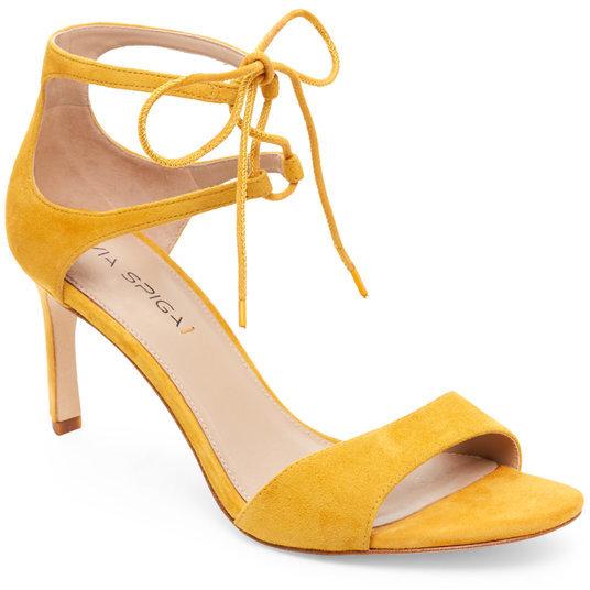 VIA SPIGA Daffodil Skylar Lace-Up High Heel Sandals