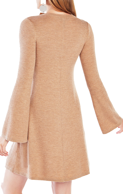 BCBGMAXAZRIA Althea Sweater Dress - Bell Sleeve