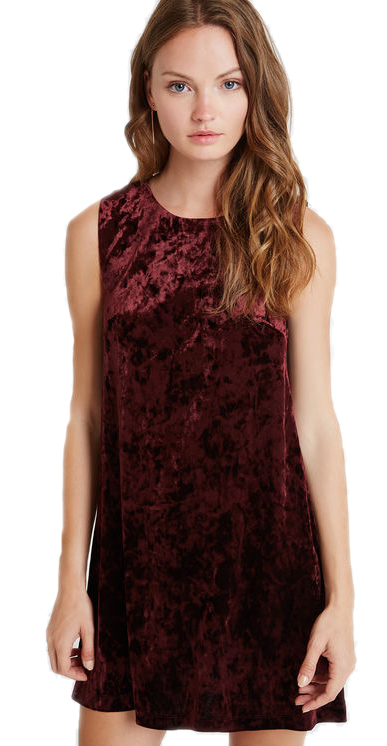 BCBGeneration Velvet Shift Dress