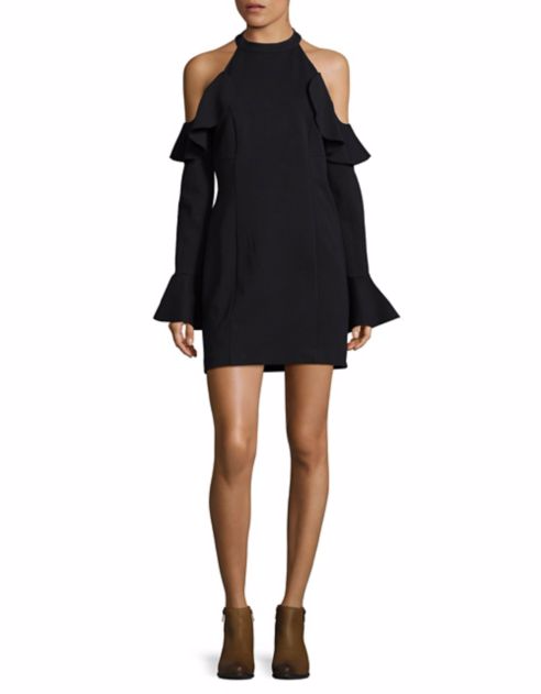 Free People Sweet Talk Bell Sleeve Mini Dress