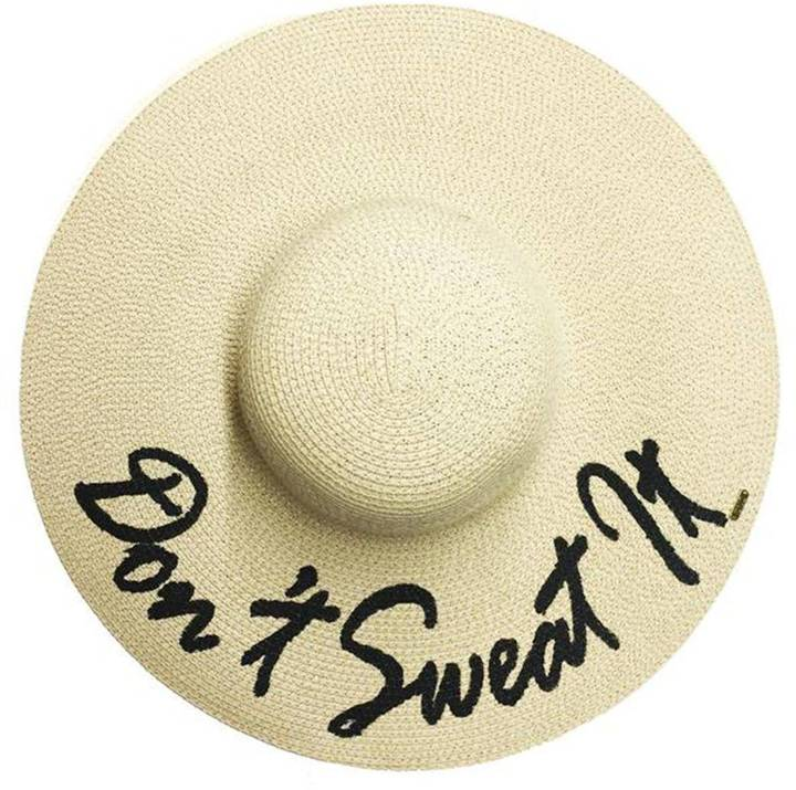 ABACO BEACH COMPANY DON'T SWEAT IT HAT - Hand-painted in Canada - Gold authenticity tag embossed with the Abaco Beach Company logo - 100% paper - 57 CM Diameter Due to its hand painted nature, there may be slight variations between individual hats. Any differences are part of what makes your hat unique.