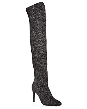Giuseppe Zanotti Over-the-Knee Stretch Glitter High Heel Boots