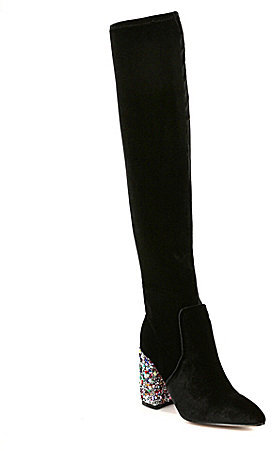 Betsey Johnson Keeva Velvet Over The Knee Boots