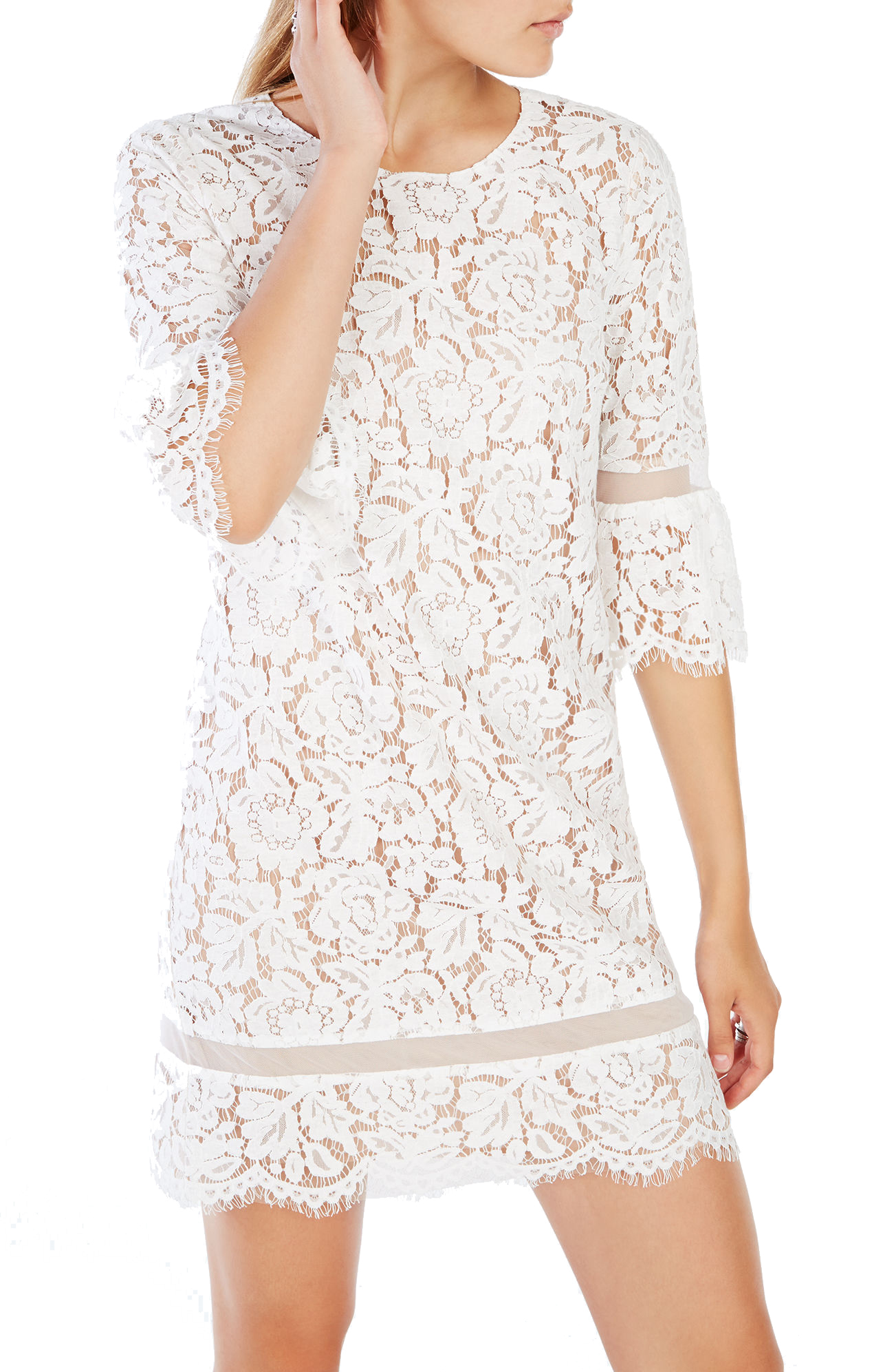 BCBGMAXAZRIA Celestia Lace Dress Image