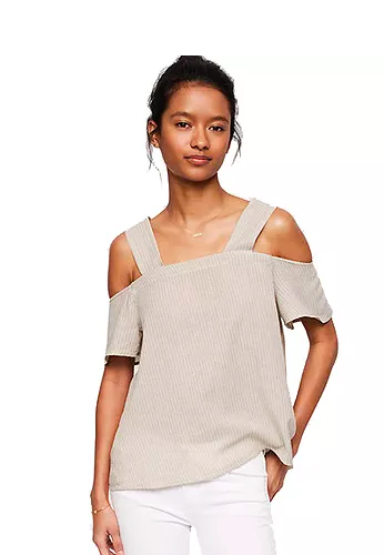 LOFT Lou & Grey Striped Off-the-Shoulder Tank