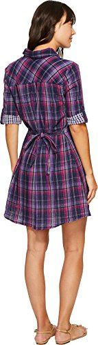 Mod-o-doc Plaid Tab Sleeve Shirtdress Image