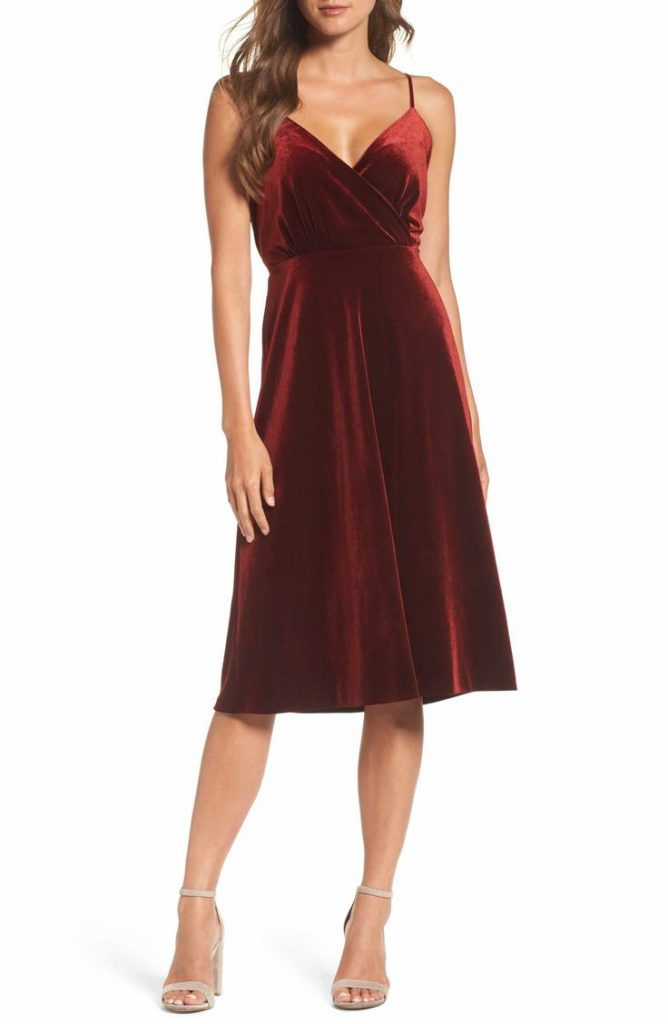 Ali & Jay Women's Velvet Underground Wrap Midi Dress