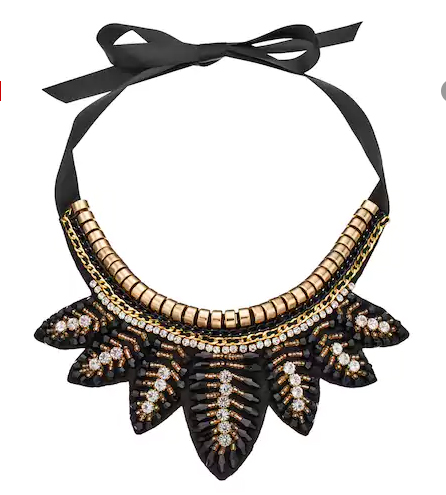 GS by gemma simone Jazz Age Glam Flapper Bib Necklace