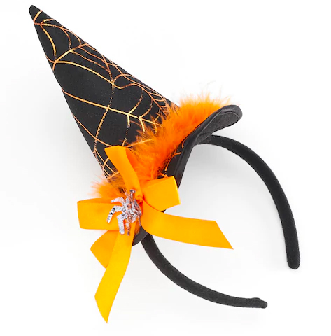 Halloween Spider & Bow Witch's Hat Headband