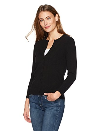 Lark & Ro Women's 100% Cashmere 12-Gauge 3/4 Sleeve Crewneck Cardigan. $69.00 (Regularly $115.00)
