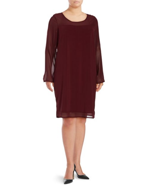 Junarose Plus Sheer Shift Dress. On sale for 39.50 use code COUNTDOWN for an extra 20% off