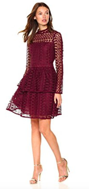 Cupcakes and Cashmere Women's Symona Ruffle Lace Dress. $150