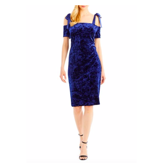 Nicole Miller New York Cold-Shoulder Velvet Sheath Dress. $51.97 (Regularly $99.00)