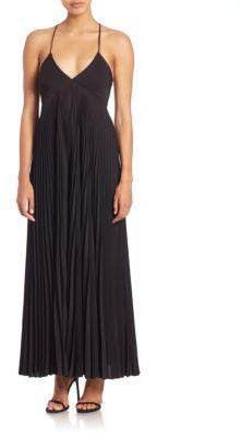 A.L.C. Katia Pleated Maxi Dress