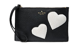 On Purpose mini leather heart wristlet - Kate Spade.