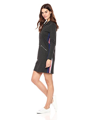 Women's Long Sleeve Interlock Pique Multico Stripes Polo Dress by Lacoste. Olympic Fashion. Fashion and Invites.