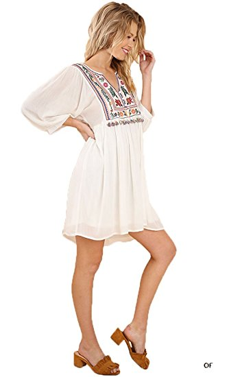 Umgee Women's Bohemian Babydoll Dress