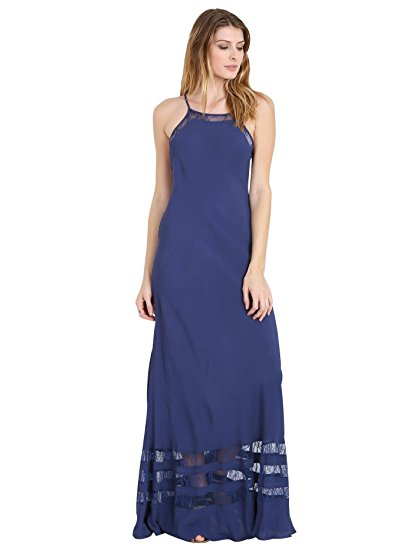 Lovers + Friends Sheer Bliss Maxi Dress Navy Image