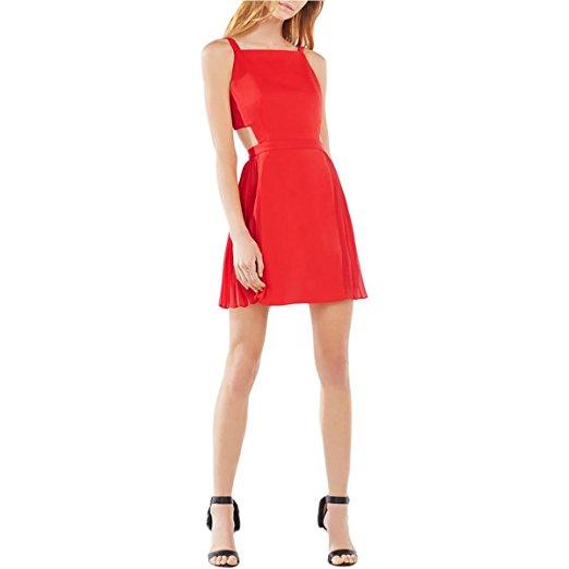 BCBG Maxazria Women's Brielle Open Back Pleated Party Dress. Vogue Valentine. Fashion and Invites.