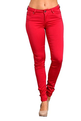 Celebrity Pink Women's Mid Rise Red Skinny Pants. Vogue Valentine. Fashion and Invites.
