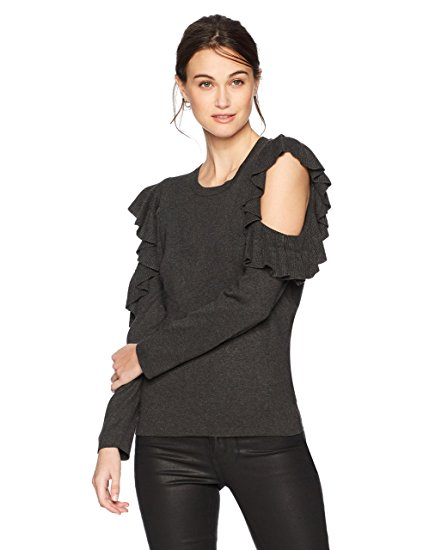 Max Studio Women's Cold Shoulder Ruffle Sleeve Sweater. CLICK IMAGE TO PURCHASE.