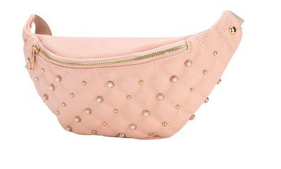 OMG! Accessories - quilted rhinestone fanny pack.
