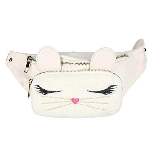 Fuzzy Bunny Fanny Pack by OMG! Accessories. Fashion Leader of the Pack.