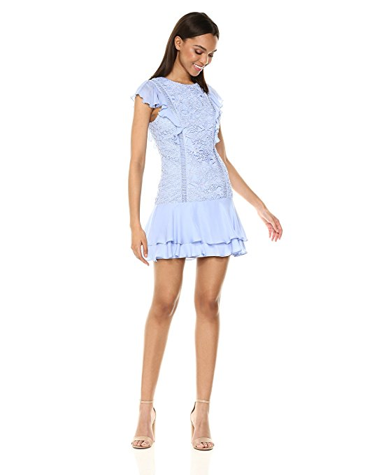 Parker Women's Bennett Dress – a ruffled dress with zipper closure. Color Me Happy With Pastels.