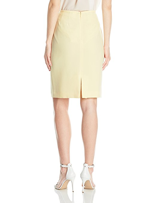 Tahari by Arthur S. Levine Women's Slim Fit Crepe Pencil Skirt. Color Me Happy With Pastels.