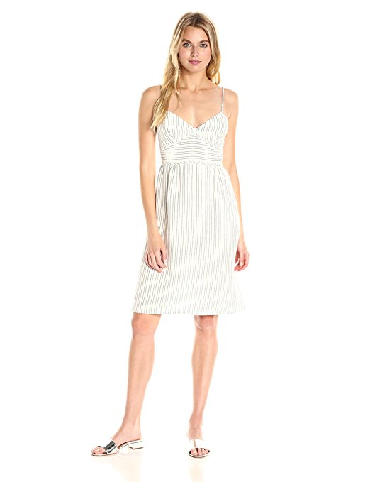 Theory Women's Melaena Narrow Stripe Dress. Earn Your Fashion Stripes.