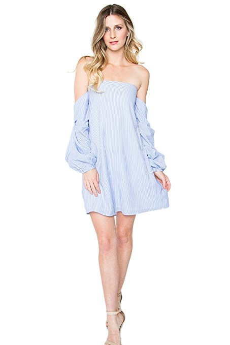 Sugar Lips Majorelle Striped Off-The-Shoulder Dress. Earn Your Fashion Stripes.