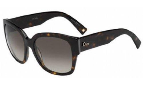 Christian Dior Flanelle 2/S Sunglasses Dark Havana / Brown Gradient. Fashion Invite App.