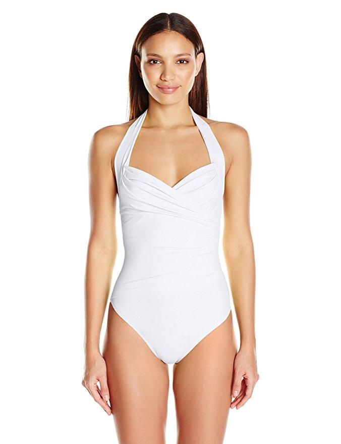 Norma Kamali Women's Halter Sweetheart Mio One Piece Swimsuit. Swimwear That Makes a Splash.