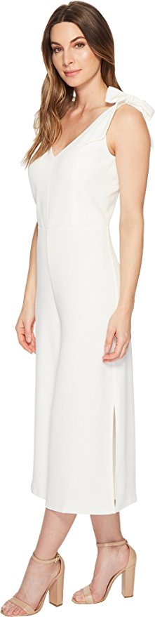CeCe Women's Sleeveless V-Neck Jumpsuit with Shoulder Ties.