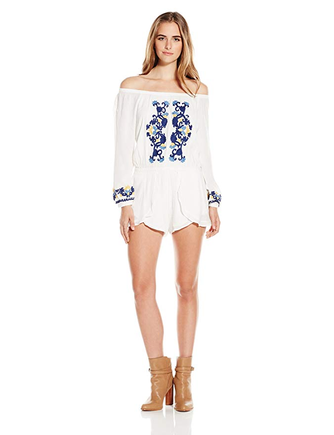 Women's Carmella Off Shoulder Romper by Lovers+Friends.