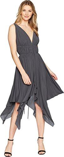 KAMALIKULTURE by Norma Kamali - Women's Goddess Dress in Pewter.