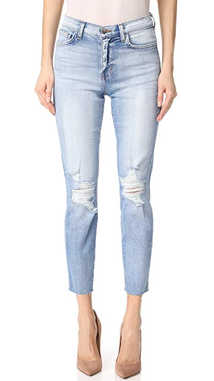 L'agence Women's El Matador French Slim Deconstructed Raw Hem Jeans