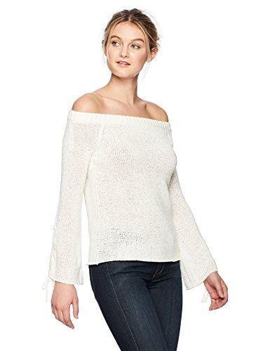 MINKPINK Antoinette Off Shoulder Sweater in White.
