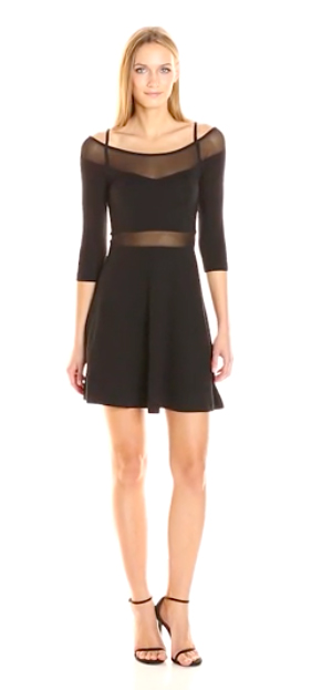 French Connection Tatlin Beau Jersey Fit and Flare Dress.