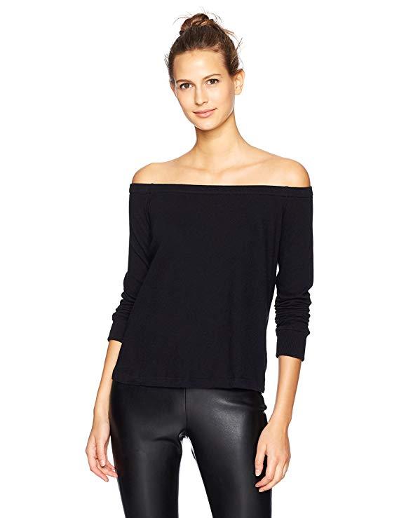 Enza Costa Long Cashmere Jersey Off The Shoulder Top. Fashion Empire Design Studio App.