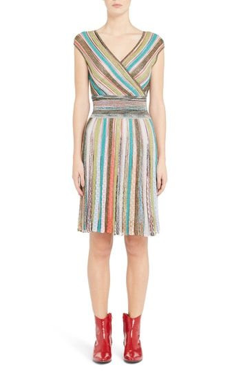 Women's Missoni Metallic Stripe Dress. Missoni Crazy Rich Asians.