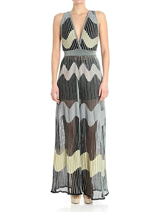 Missoni Black Polyamide Dress. Crazy Rich Asians.