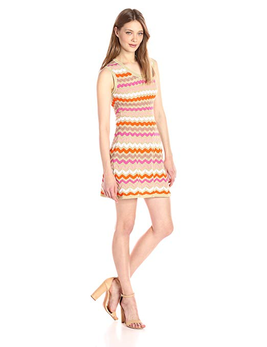 Ombre Zig Zag Sleeveless Dress by M Missoni. Crazy Rich Asians.