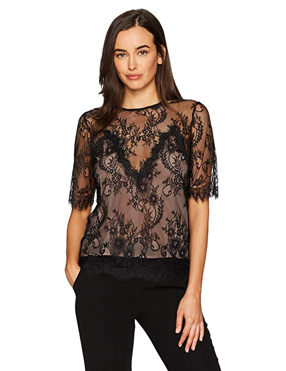 Bardot Women's Luna Lace Top. Fashion Style Shop Studio.