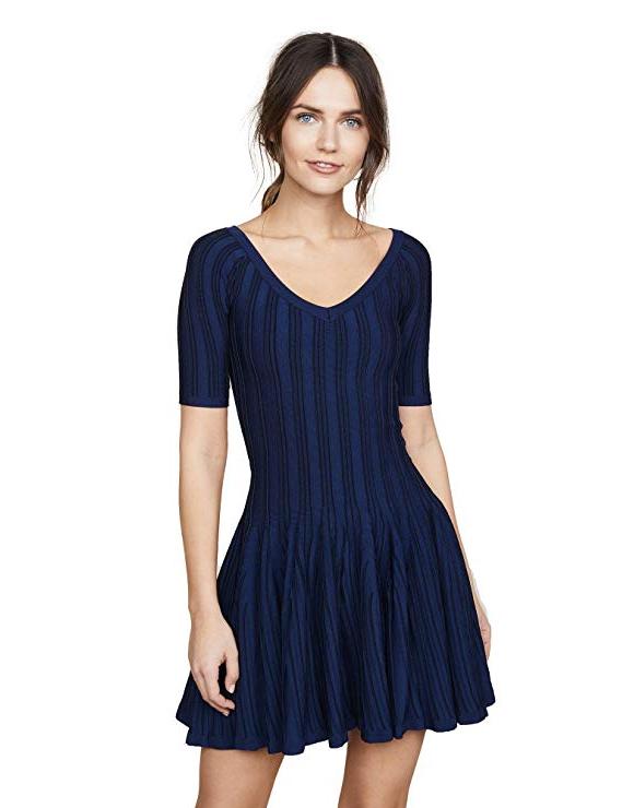 Cushnie et Ochs Women's Elizabetta Two Tone Knit Dress. Fashion Style Best Outfit Shop App.