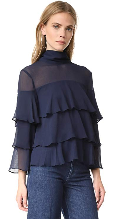Endless Rose Ruffled High Neck Top. Fashion Invite App