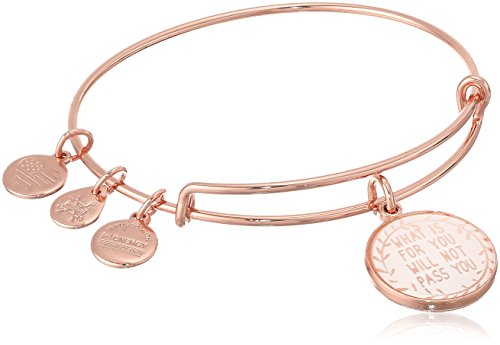 Alex and Ani Words are Powerful, What Is for You Will Not Pass You II EWB Shiny Rose Bangle Bracelet. Fashion Style Best Outfit Shop.